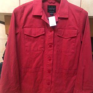 NWT Sanctuary LA 4 Pocket Jacket L Cherry Red $109